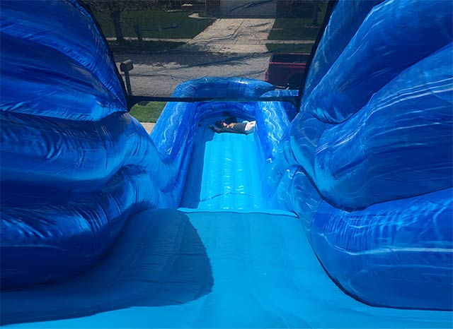 Big Blue Water Slide The Bounce House Company