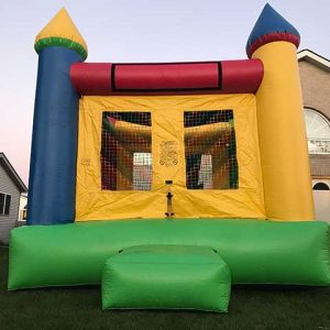 Yellow and Blue Castle Bounce unit rental