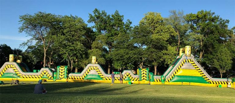 Bounce House Event in a park